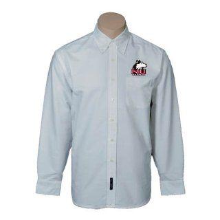 Northern Illinois Mens White Oxford Long Sleeve Shirt
