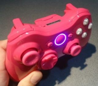 New Custom Hot Pink Xbox 360 Wireless Controller with White ABXY