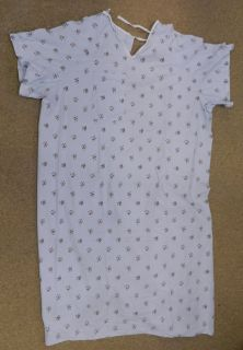 Textile Medical Home Health Patient Gown Hospital Unisex Blue L