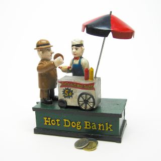 Hot Dog Stand Novelty Collectible Die Cast Iron Vintage Replica
