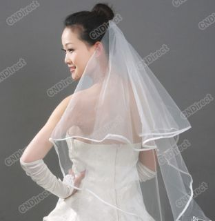 Hot Sale Fashion Lady Wedding Prom Bridal Veil Comb White Beige