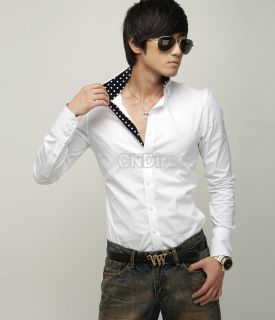 Men Slim Long Fit Sleeve Casual Dress Shirt Stylish Hot