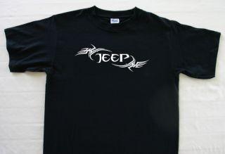 Tribal Jeep Wrangler Design Black T Shirt XL XXL