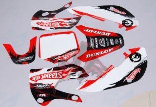 3M Hotwheel Graphic Decals for KLX 110 KX65 Style Pit Bike Kawasaki
