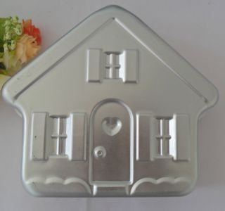 Aluminum House shape cake pan baking mold cake mold Cake Decorating