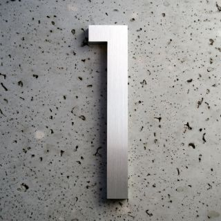 Modern House Number Aluminum Modern Font Number One 1