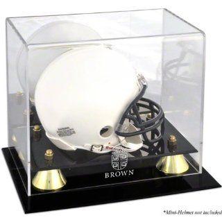 Brown Bears Golden Classic Logo Mini Helmet Logo Display