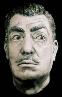 Vincent Price Life Mask Eyes Peering Sculpture Bust