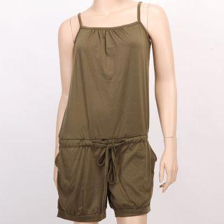 Neu Damen Sommer Jumpsuit Overall Kurze Hose Hotpants