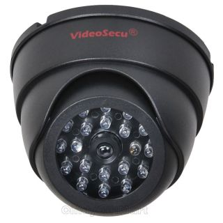 Dummy Flashing Light Home Security Surveillance Camera Dome Indoor AA3