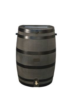 Home Accents 50 Gallon Rain Water Collection Barrel Storage Brass