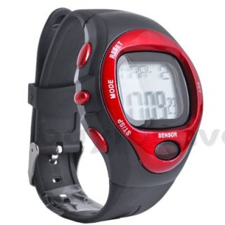 Sport Alarm Pulse Heart Rate Monitor Noctilucent Stopwatch Watch