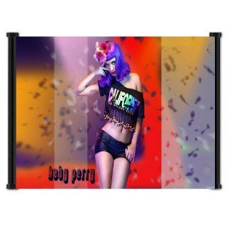 Katy Perry Sexy Pop Star Fabric Wall Scroll Poster (26 x