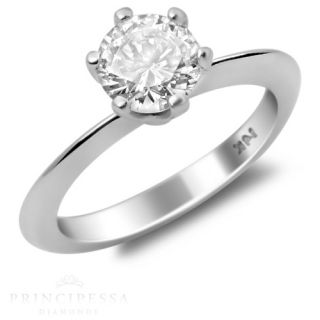 SI Natural Diamond Solitaire Engagement Ring 14k White Gold