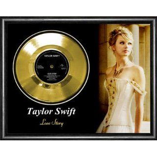 Taylor Swift Love Story Framed Gold Record A3 Musical