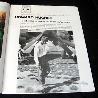 Howard Hughes 1963 Career Pictorial Billion Dollar Empire Spruce GOOSE
