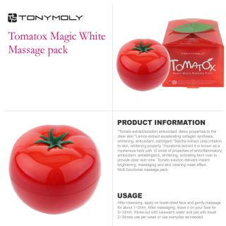 Original Tonymoly Tony Moly Tomatox Magic Massage Cream 80g Brand New