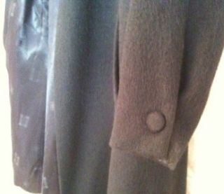 Black Vintage Alpaca Coat from Anglo Fabrics