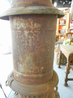 Howard Rex Antique Pot Belly Stove Vintage Wood Cast Iron Rustic