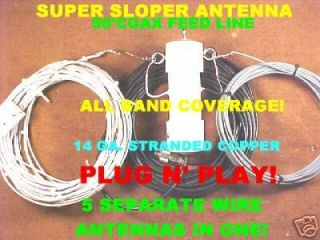 Super Sloper All Band Shortwave Antenna Hear The Weak Ones