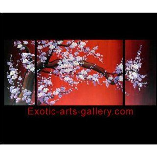 Abstract Art Asian Feng Shui Cherry Blossom Flower