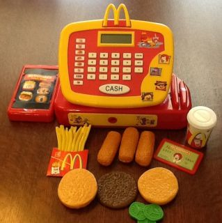 McDonalds Electronic Talking Cash Register Play Food Lot