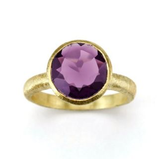 Betty Carre Created 3 Carat Amethyst Ring 18K Gold Clad Jewelry