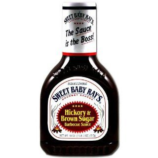Sweet Baby Rays Hickory & Brown Sugar Barbecue Sauce, 18 oz (Pack of