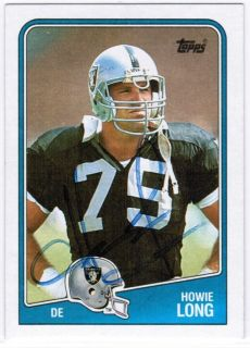 Howie Long Signed 1988 Topps Card Autograph Raiders Auto