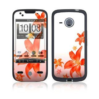 Flying Flowers Protective Skin Cover Decal Sticker for HTC