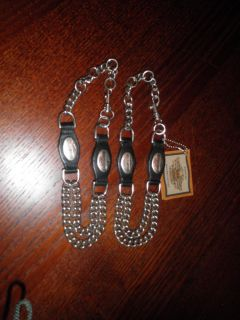 Very Unusual Ladies Harley Davidson Chain Boot Straps