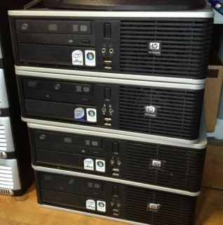 HP dc7800 SFF PC 2 66 Ghz Core 2 Duo 2 GB RAM 160 GB Hard Drive DVDRW