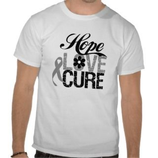 Brain Cancer HOPE LOVE CURE Gifts Tee Shirts
