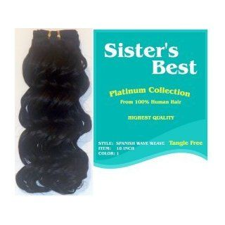 Sisters Best Human Weaving Hair Spanish Wave Weave 14