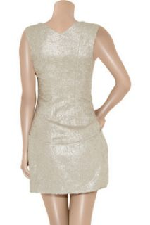 Theyskens Theory Dilliam metallic brocade mini dress   65% Off