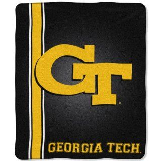 Georgia Tech Yellow Jackets Jersey Mesh Raschel Blanket