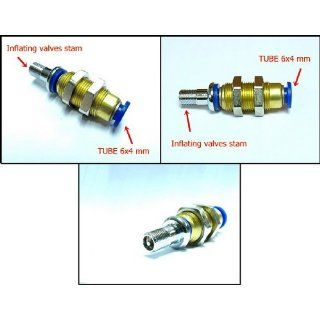 1 Pair Inflating Valves Valve Stem Fitting Air Tube Line