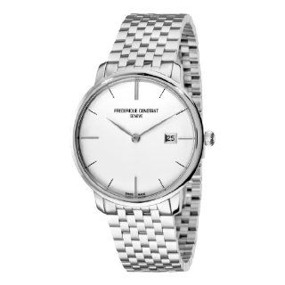 Frederique Constant Mens FC 306S4S6B Curved Index Silver Dial Watch