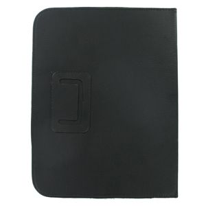 Black Leather Folio Case Cover for HP Touchpad Tablet