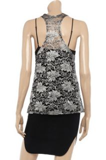 Top Secret Fire And Ice silk lace top