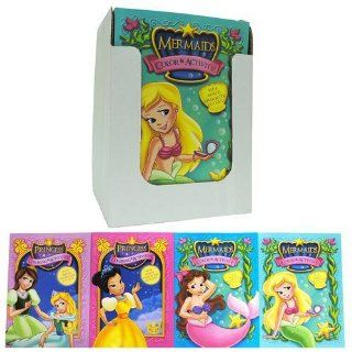 Mermaids/Princess Color Book 4 Titles 96 Page Pdq (24 Pack
