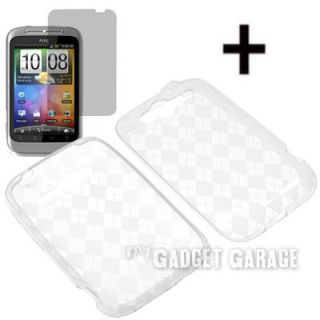 Crystal Skin Cover Case LCD for HTC Marvel Wildfire S