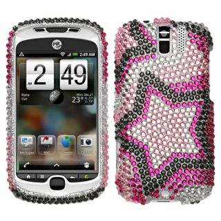 For HTC myTouch 3G Slide Case Cover Bling Rhinestones Twin Stars