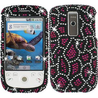Rhinestone Bling Faceplate Hard Skin Case Cover HTC My Touch 3G G2