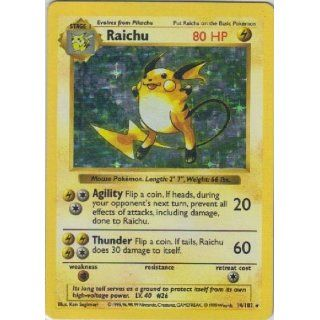 HOLO Shadowless Raichu Base Set 14/102 Foil Unlimited: Everything Else