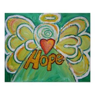 Hope Angel Art Poster Print