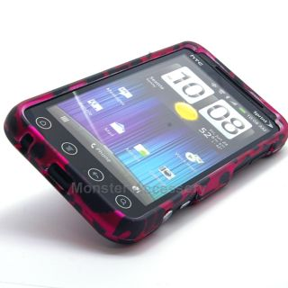 Pink Leopard Rubberized Hard Case Cover for HTC EVO V 4G Virgin Mobile