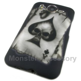 Ace Skull Rubberized Hard Case Cover for HTC Desire HD