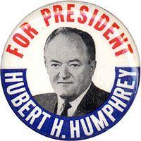 1968 Hubert Humphrey Campaign Button Classic Design