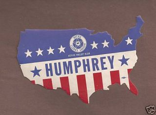 Hubert Humphrey vs Richard Nixon USA Map Campaign Decal